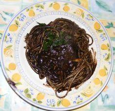 Ricette siciliane - spaghetti al nero di seppia