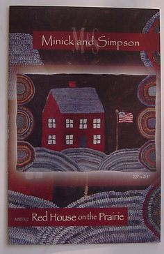 Red House on the Prairie Rug pattern