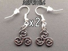 2x Pairs of Teen Wolf Triskelion Earrings Spirals Stiles Cosplay Triskele Gifts #DropDangle