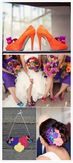 love the colored shoes! festive mexican style wedding