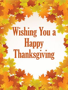 74 best thanksgiving cards images on pinterest anniversary wishing you a happy thanksgiving card send warm wishes this holiday season with a crisp m4hsunfo