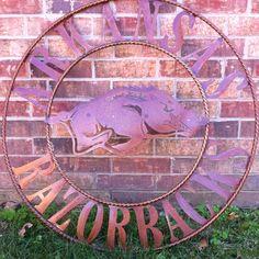Arkansas Razorback decoration I need one of these!!