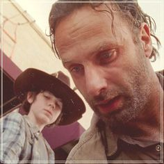 Great photo of Rick and Carl <3 <3