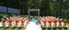 Outdoor Wedding Ceremony...Impeccable Designs by Faith