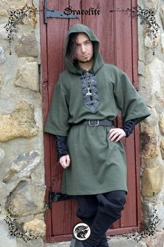Viking tunic medieval clothing for men LARP costume by Dracolite