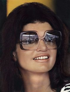Jackie Kennedy wearing Nina Ricci sunglasses