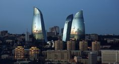 Flame Towers of Baku | by wilth