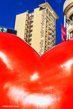 Union Square Red Heart , San Francisco By Mitchell Funk  mitchellfunk.com