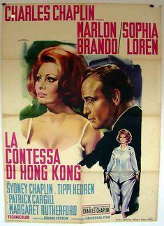 La Contessa di Hong Kong 1967 di Charlie Chaplin con Sofia Loren e Marlon Brando.