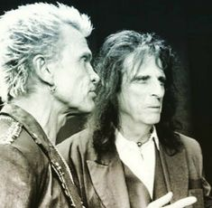 Alice Cooper and Billy Idol