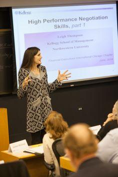 "Leigh Thompson presenting ""High Performance Negotiation Skills"""