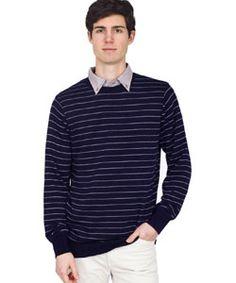 RSAKWCNT Knit Thin Stripe Sweater Crew Neck $62