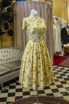 Cabaret Vintage - Vintage Ladies Yellow Floral Dress, $82.50 (http://www.cabaretvintage.com/vintage-dresses/vintage-ladies-yellow-floral-dress/)
