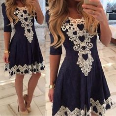 f8fa48d94dad0 Sexy Summer De Festa Womens Evening Party Dresses V Collar Half Sleeve  Night Club Woman Lace Dress Vestidos Femininos-in Dresses from Women s  Clothing ...