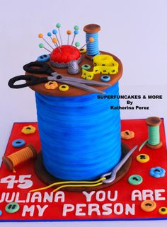 Do you like knitting? - cake by Super Fun Cakes & More (Katherina Perez) 3d Cakes, Cupcake Cakes, Knitting Cake, Sewing Cake, Quilted Cake, Fondant Cake Designs, Gravity Defying Cake, You Are My Person, Cakes For Women