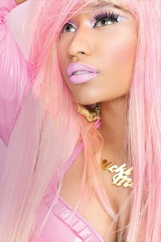 Nicki Minaj hair, make up.