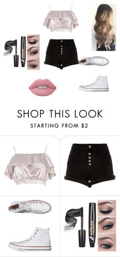 """Weekend at the Mall"" by panda-corn32 on Polyvore featuring River Island, Converse and Lime Crime"