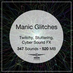Manic Glitches sound fx collection with 347 sound clips in over 500 megabytes of audio. Features skipping, crunchy, and distorted glitches. 96 stereo with full editor-friendly metadata. Sound Clips, Sound Effects, Glitch, Libraries, Editor, Audio, Collection, Hacks, Library Room