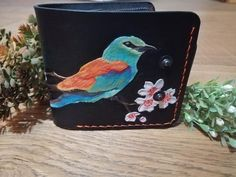 Women wallet by @manufakturaleo Leather Working, Wallets For Women, Cherry Blossom, Leo, Coin Purse, Jewelry Making, Purses, Handmade, Handbags