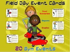 Field Day Event Cards- 20 Gym Events