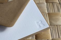 Letterpress Monogram Stationery Blind Impression Note Cards | Etsy