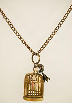 Parisian Bird Cage Necklace by ravenwritingdesk on Etsy