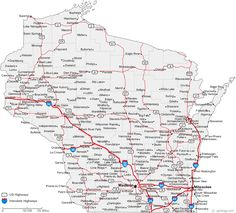 Thomas OfficeDetailed Map Of CA Map Of California Cities - Map of wisconsin with cities