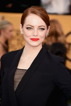 The Best Red Lips From the SAG Red Carpet - Red Lips on the Red Carpet - Elle