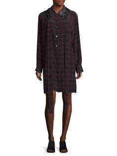 Marc Jacobs Metallic Sequin Shirtdress