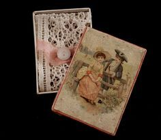 A Fantastic Antique French Presentation Box 'La Petite Lingere' with from mapetiteparisienne on Ruby Lane
