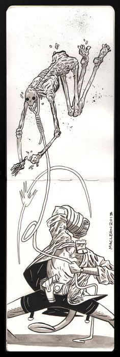 Sketchbook Hellboy by Andrew-Ross-MacLean on DeviantArt