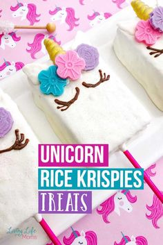 These Unicorn Rice Krispies Treats are delicious and simple to make. You'll love the crunchy, sweet taste that accompanies every single bite. Rice Crispy Treats, Krispie Treats, Rice Krispies, Yummy Treats, Sweet Treats, Chocolate Molds, Melting Chocolate, Unicorn Themed Birthday, Unicorn Party