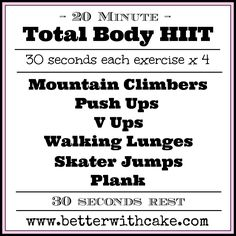A 20 Minute {No Equipment} Total Body Workout + A Ginger and Pomegranate Smoothie Recipe Running Workouts, Circuit Workouts, Cardio Hiit, Calisthenics Workout Routine, Pomegranate Smoothie, Fitness Tips, Health Fitness, Train Like A Beast, Total Body