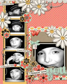 scrapbooking idea , scrapbook idea, scrapbook layout, digital scrapbooking