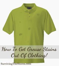 If you have clothes with grease stains that you want to pass down to your younger children (or resell!) then here's how to make the clothes look like new again!