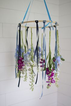 easy floral chandelier DIY I howsweeteats.com