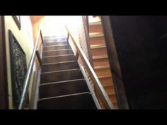 Antique Attic Ladder! Antique Attic Stairs! My retractable attic stairs - YouTube