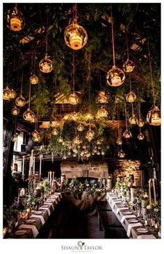 Enchanted Forest Wedding Theme Best Picture For summer Wedding Decor For Your Taste You are looking Enchanted Forest Decorations, Forest Wedding Decorations, Enchanted Forest Wedding, Woodland Wedding, Table Decorations, Reception Decorations, Reception Ideas, Enchanted Wedding Themes, Wedding Ceiling Decorations