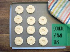 Great tip for using cookie stamps!  Before 3 pm - Getting it all done before the kids get home!