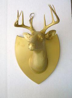 vintage stag trophy by livingstonandporter on Etsy, $40.00