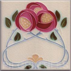 Mackintosh Style Rose Ceramic Tile Firplaces Kitchen Bathroom Mac08
