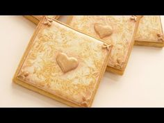 How To Make Gold Marbled Cookies - DIY Wedding Collaboration - YouTube     http://www.sweetambs.com/