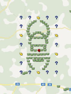 This Travel Bug geo-art can be found in Sweden.  Find the geocaches by searching the map at http://geocaching.com  #geocachingrules