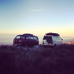 van-life:    Model: 1986 and 87 VW Vanagon Syncros  Location: Santa Barbara, CA  Photo: Foster Huntington