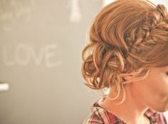I love messy buns and braids and I need to find instructions for this Homecoming Hairstyles, Bride Hairstyles, Pretty Hairstyles, Updo Hairstyle, Style Hairstyle, Plait Hairstyles, Hairstyle Photos, Bridesmaid Hairstyles, Hairstyle Ideas