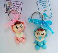 llaveros bebes pasta francesa recuerdo baby shower regalos