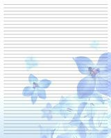 butterflies free printable stationery for kids primary lined