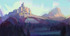 Castle sketch, Roberto Gatto on ArtStation at https://www.artstation.com/artwork/3PbwB