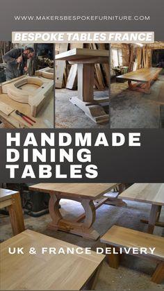 Table Maker, Wood Bedroom Sets, Bespoke Kitchens, French Oak, Bespoke Furniture, Dining Table In Kitchen, Modern Kitchen Design, Farmhouse Table, Dining Room Furniture