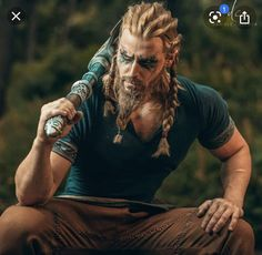 Viking Braids, Viking Hair, Steven Universe, Vikings, Thor, Mens Braids Hairstyles, Assassins Creed Odyssey, Vegvisir, Viking Warrior